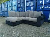 Black+Grey Corner Sofa *Good Clean Condition*