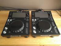 Pair of Pioneer XDJ-700 Touchscreen Multiplayer DJ Decks