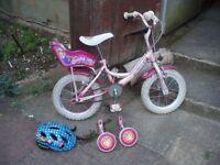 Girls' bike - Raleigh 'Molly' bike - suitable for 3-5yrs