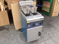 CATERING COMMERCIAL NEW ELECTRIC TWIN TANK FRYER FAST FOOD RESTAURANT CAFE KEBAB PIZZA RESTAURANT