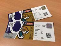 NFL Colts V Jaguars (2 tickets) FACE VALUE £120