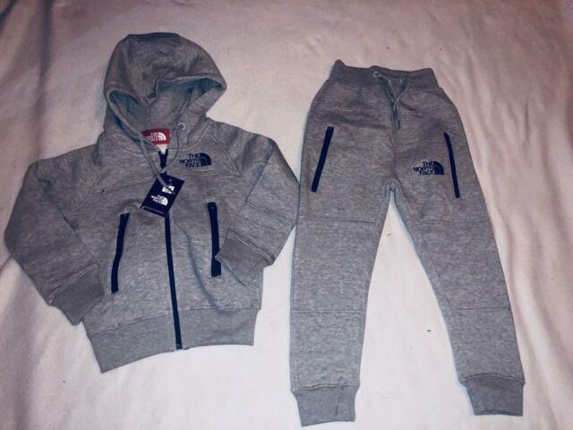 2ecd42196 The North face kids tracksuit set grey hoodies & slim jogger age 3/4yrs £25  set | in Leicester, Leicestershire | Gumtree