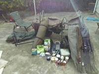 PRICE LOWERED Complete carp fishing outfit.