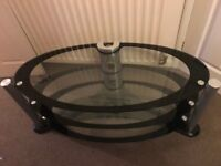 Television Stand. 3 Glass shelves. Like new condition.