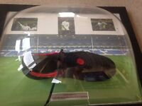 GREAT FOOTBALL GIFT! Official Tom Huddlestone Signed Match Worn Football Boot...See photos