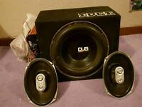 DUB subwoofer in Edge box with Edge amp
