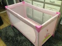 Ladybird travel cot