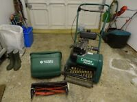 Sufolk Punch 14s petrol lawnmower with scarifier - Excelent condition