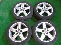 """GENUINE AUDI A1, A2, A3, TT, VW GOLF MK4, BEETLE BORA 17"""" inch ALLOY WHEELS ( our ref 057 )"""