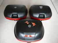 Givi E460 46 litre Top box & 2 x E360 40 litre side panniers. Mono key