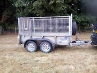 Ifor Williams twim axle Trailer with Ramp and mesh sides. 2700kg