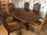 DINING TABLE TABLE WITH SIX CHAIRS