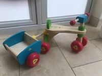 Wooden Trike and trailer