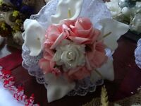 lovely cream and pale pink bridal bouquet