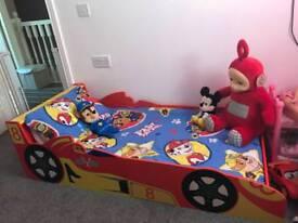 Boys car toddler bed