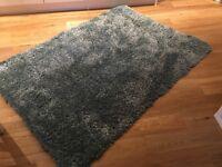 Bhs large rug 200cm by 140cm duck egg shaggy rug 12mths old