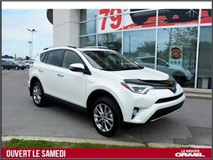 2018 Toyota RAV4 HYBRID LIMITED  - Cuir - GPS-  Toit ouvrant - T