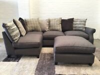 Small Grey Corner Sofa+Footstool