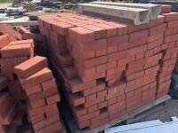 Red Driveway block pavers. 200x100x65mm
