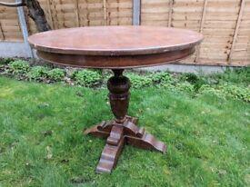Round Antique Oak Table
