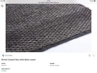 Brinker Carpets Safira chunky handwoven grey wool mix rug 170 x 230