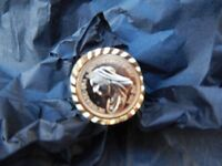 Men's Sovereign Style Rings; Gold Colour; Size S / U / and W