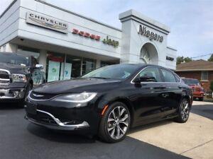 2016 Chrysler 200 C,LEATHER,NAV,ALLOYS,8.4,V6,HTD SEATS,
