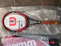 Wilson Pro Staff 97 Racket, brand new, never used.