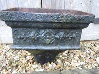 Vintage cast iron drain hopper. Ideal as garden/wall planter.