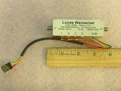 Aeroflex Weinschel 3201-4 Sma Programmable Attenuator Dc-2ghz 1.2db 0.1db Steps
