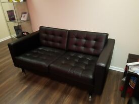 Two leather sofa's , little used ex office furniture