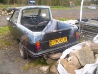 reliant robin cut down to make a pick up does need work as hasnt been ran for 12 months