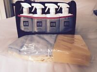 Full Home Car Wash kit by Life Shine - 8 special products plus sponge and 2 cloths in own carry bag