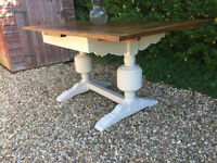 Stunning Farmhouse Jacobean Rustic Oak Shabby Chic Extending Dining Table F&B