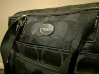 Coach black nylon baby changing bag