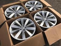 "GENUINE ORGINAL 19"" VW BLADE ALLOYS- MINT CONDITION VW GOLF VW SCIROCCO QUICK SALE"