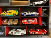 Scalextric set, large collection of classic track and cars