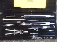 BOFA D413 Technical Drawing Set (13 piece), from 1965, unused