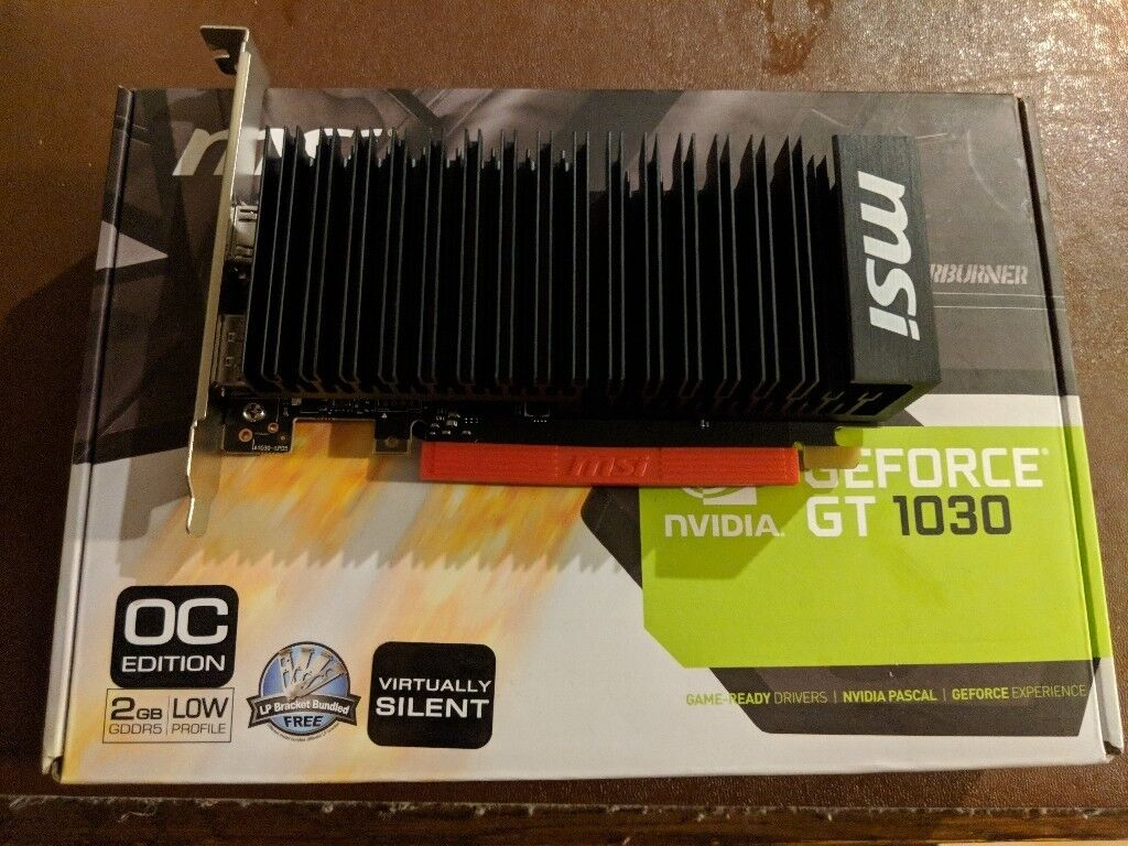For Sale Msi Nvidia Geforce Gt 1030 2gb Passive Lp Oc Graphics Card Asus Ddr5