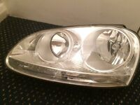 V W GOLF MARK 5 LS FRONT HEAD LIGHT 2004 ,2010