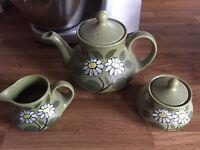 Teapot, Milk Jug and Sugar Bowl