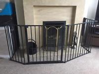 Babydan Flex hearth gate black