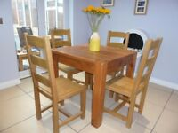 Indigo Furniture Solid Oak Kitchen/Dining Table & Chairs