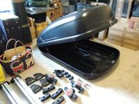 Roof Box, Roof Bars and Fitting Kit.