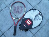 Two Wilson Children's Roger Federer Tennis Racquets, with covers, small and medium-sizes