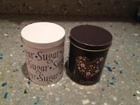 Sugar and coffee container