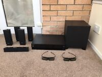 Sony 3D Blu-ray Home Theatre + 2x Samsung Power 3D Glasses