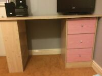 Kids Malibu Pine effect 3 drawer Desk