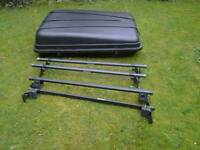 Roof rack (2) and box