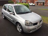 Renault Clio Campus Sport 1.2 16V 2006 Silver 12 Months MOT 52K Miles Ideal First Car